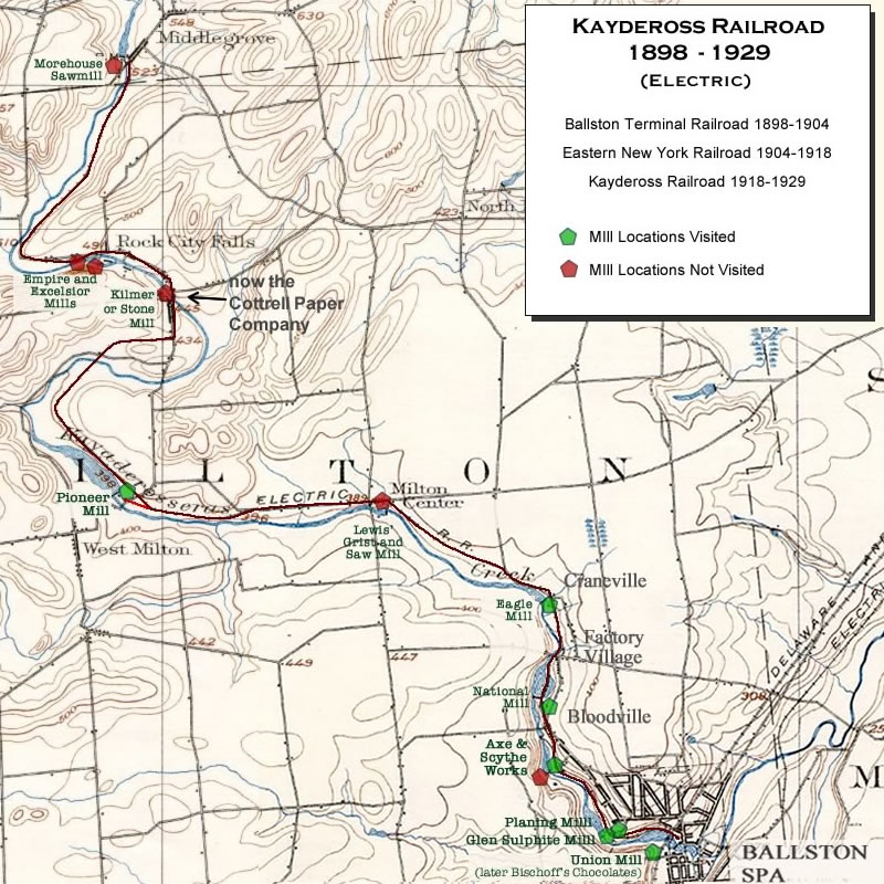 RAILROADNET View topic Retracing the Kaydeross Railroad